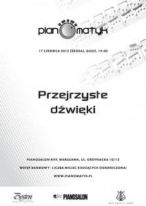 PLAKAT PIANOMATYK - Koncert w Riff Pianosalon